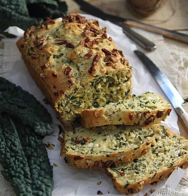 kale feta bread