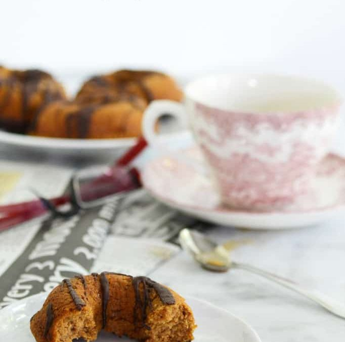 paleo chocolate pumpkin donuts