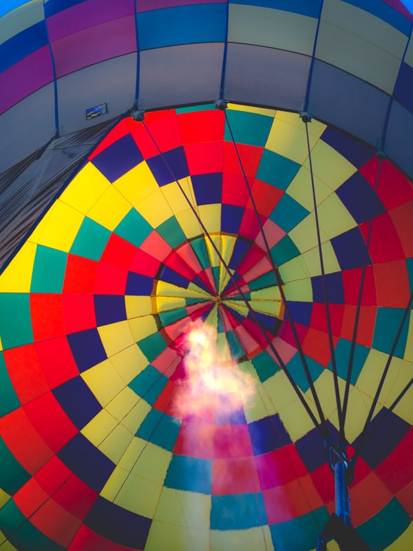 Big Harvest Potluck- inside the hot air balloon