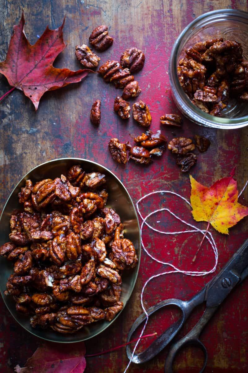 chocolate chili spiced pecans - Healthy Seasonal Recipes