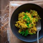 Simple Saffron Brown Rice #vegan