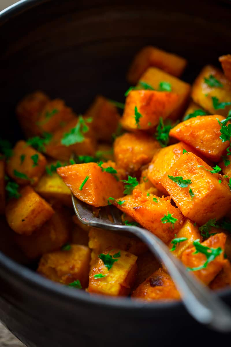 Roasted Butternut Squash With Smoked Paprika And Turmeric Healthy Seasonal Recipes
