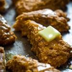 Vegan Pumpkin Maple Walnut Scones on healthyseasonalrecipes.com