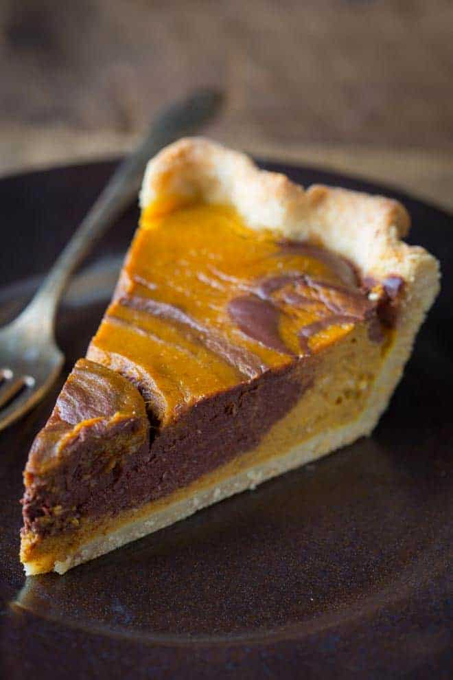 chocolate swirl pumpkin pie - Healthy Seasonal Recipes