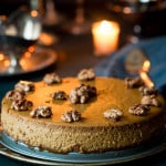 Gingerbread Pumpkin Cheesecake Recipe on Healthy Seasonal Recipes with gluten-free walnut gingersnap crust
