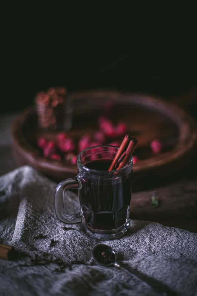 Mulled Wine, by Eva Kosmas Flores. A hot spiced wine recipe, sweetened ...