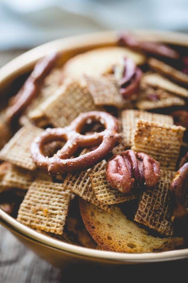 Brown Butter Maple Rum Party Mix recipe