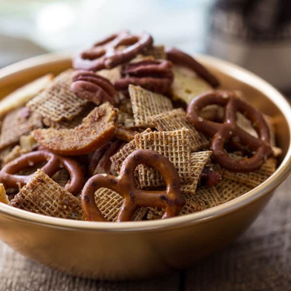 brown butter maple rum party mix
