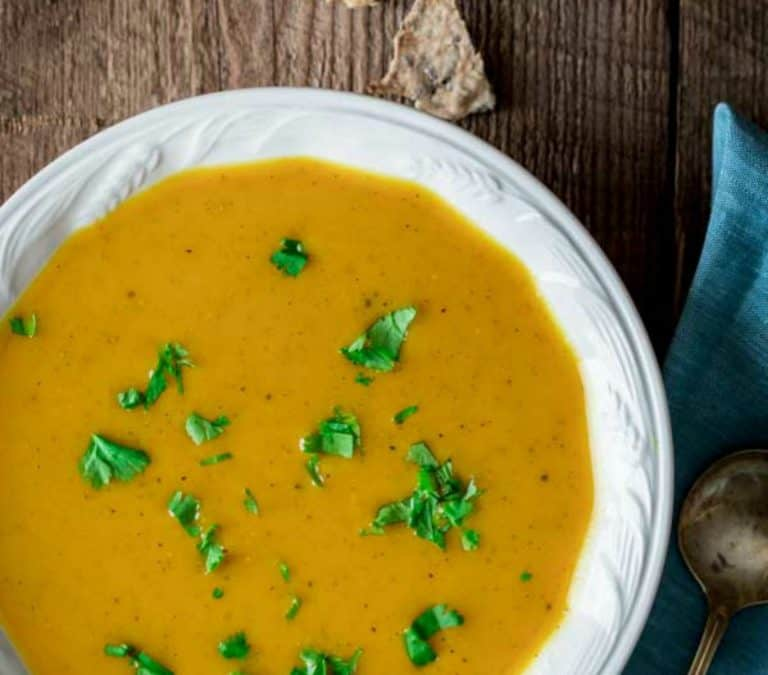 clean eating curry butternut squash soup