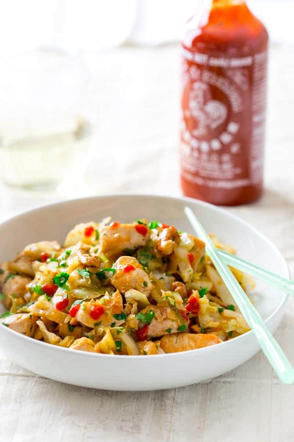 honey sriracha cashew chicken stir-fry