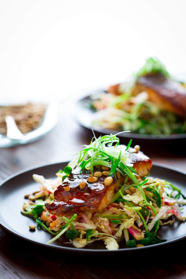 Hot and Sweet Jerk Spiced Salmon