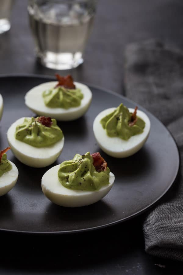 Spinach and Bacon Deviled Eggs recipe on Healthy Seasonal Recipes