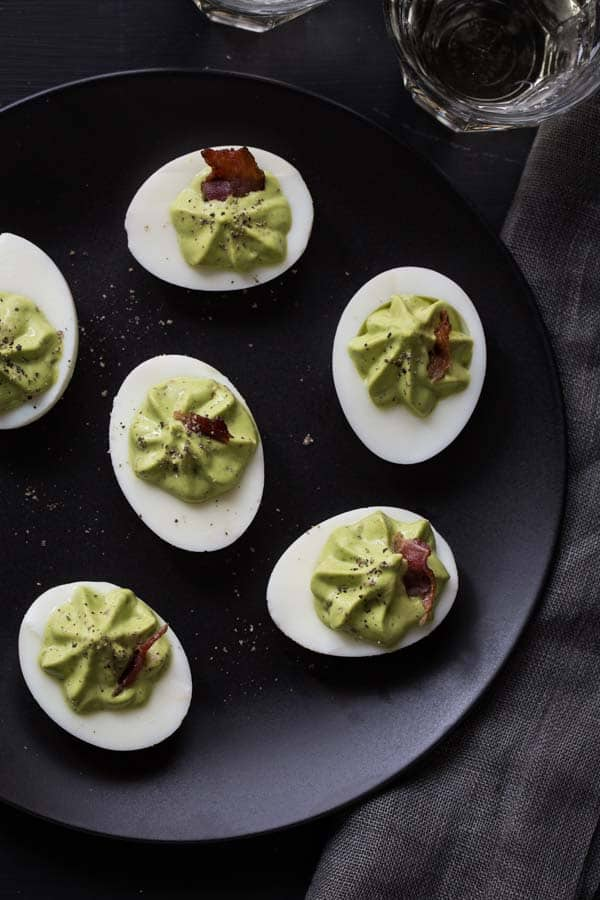 spinach and bacon deviled eggs