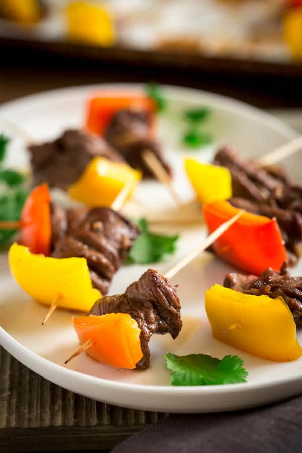 Mini Caribbean Spice Beef Kebabs on Healthy Seasonal Recipes