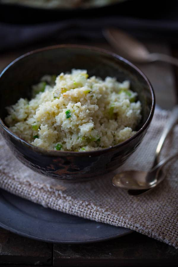 Low Carb cauliflower Rice Recipe only 54 calories per serving.