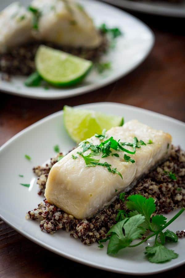 Ginger Lime Black Cod Recipe (sablefish) #paleo on healthyseasonalrecipes.com