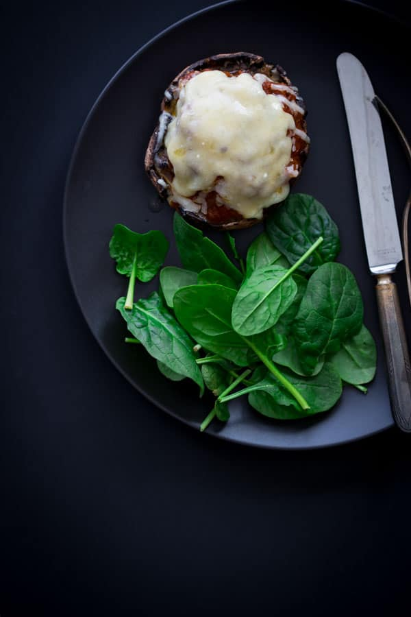 Italian Beef and Marinara Stuffed Portobello Mushrooms on Healthy Seasonal Recipes