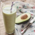 Pear Avocado and Honey Smoothie on Healthy Seasonal Recipes
