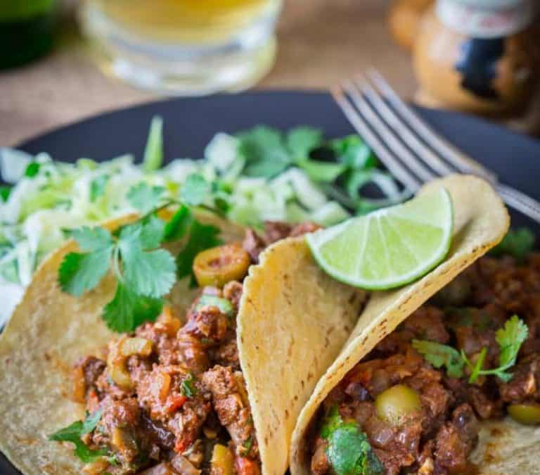 picadillo with olives and raisins