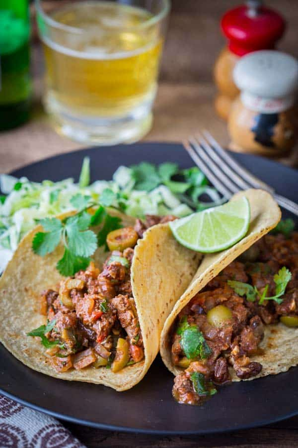 20 minute picadillo recipe on HealthySeasonalRecipes.com Paleo and Gluten-free and a great way to use venison, grass-fed beef and bison.