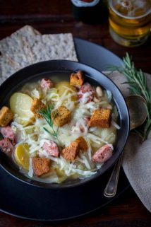 Slow Cooker Kielbasa, Cabbage and Potato Soup | Fall | Winter | Gluten Free | White Beans | Comfort Food | Healthy Seasonal Recipes