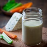 Lower calorie blue cheese dressing recipe | 85 calories per serving on Healthy Seasonal Recipes