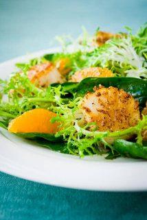 Coriander Crusted Scallops and Tangerine Salad