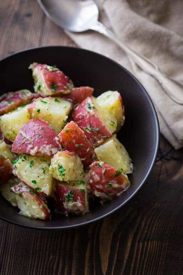 Potatoes with Butter and Herbs | Eating in Season on healthyseasonalrecipes.com
