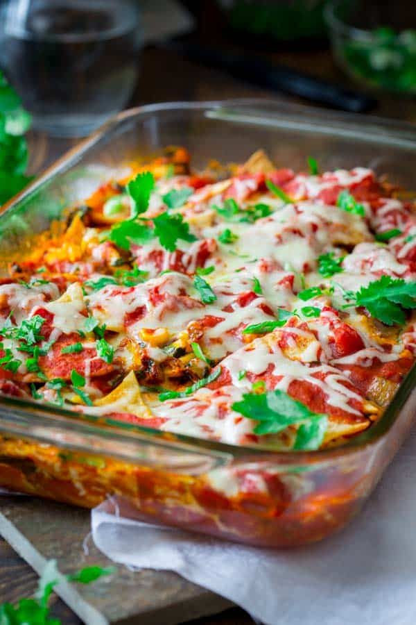 Chicken Chilaquiles | Mexican Comfort food (shh, it's healthy too!)