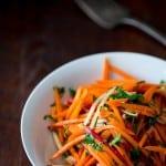 Ginger Carrot Radish Salad on HealthySeasonalRecipes.com | paleo-friendly, vegan and gluten-free