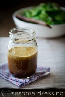 healthy sesame dressing recipe and food photography tips