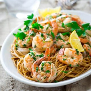 Shrimp in Garlic Sauce on healthyseasonalrecipes.com | Paleo and gluten-free
