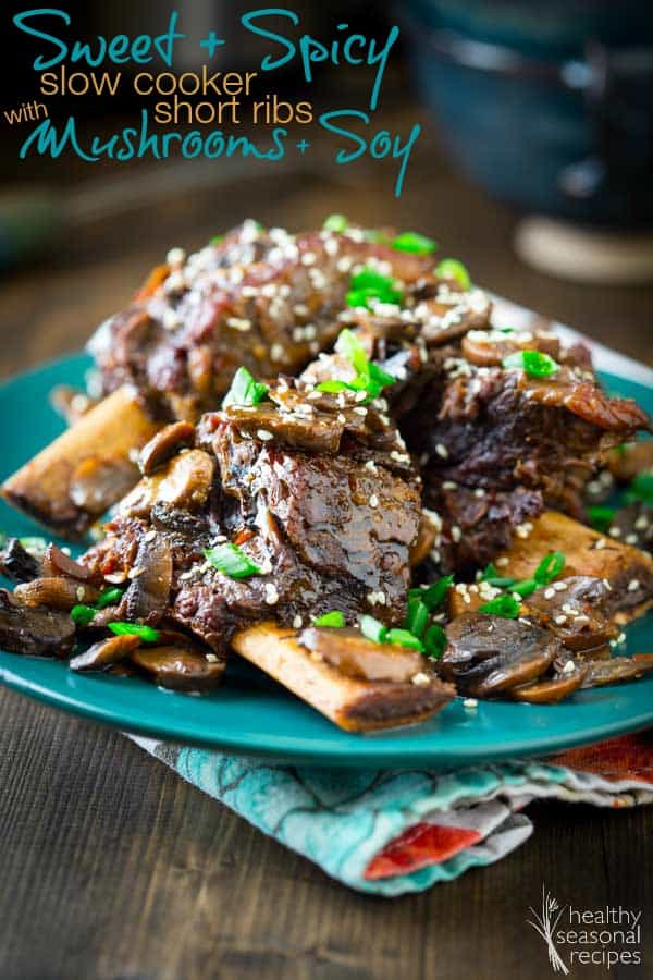 slow cooker short ribs on a plate
