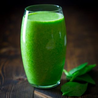 Vanilla Green Protein Smoothie on Healthy Seasonal Recipes