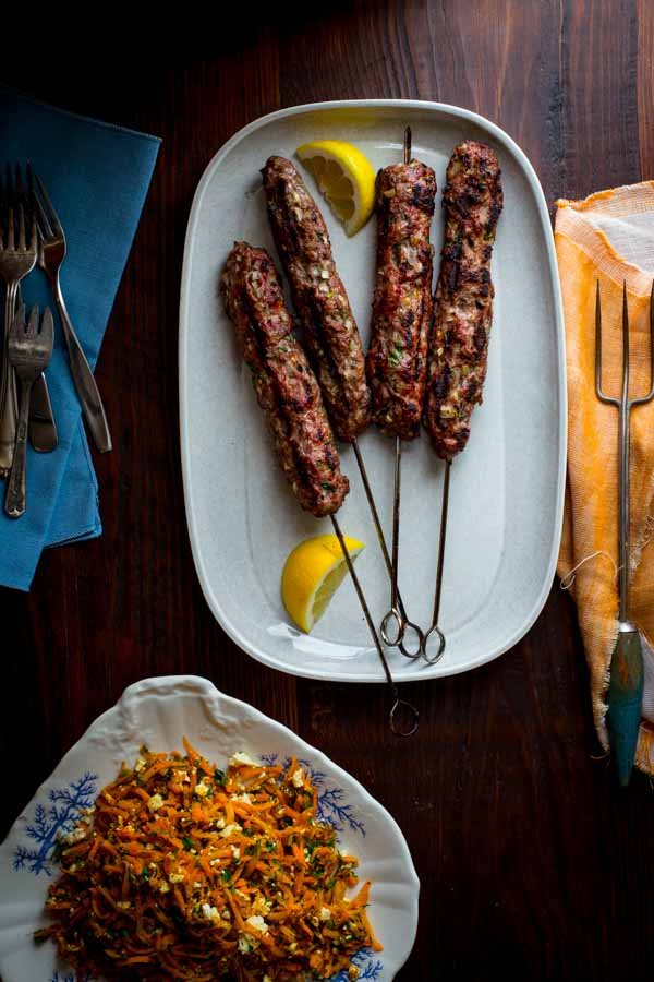 Grilled Lamb Kofta Kebabs on Healthy Seasonal Recipes grain free and paleo