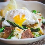 Asparagus Panzanella with Poached Eggs | Healthy Seasonal Recipes