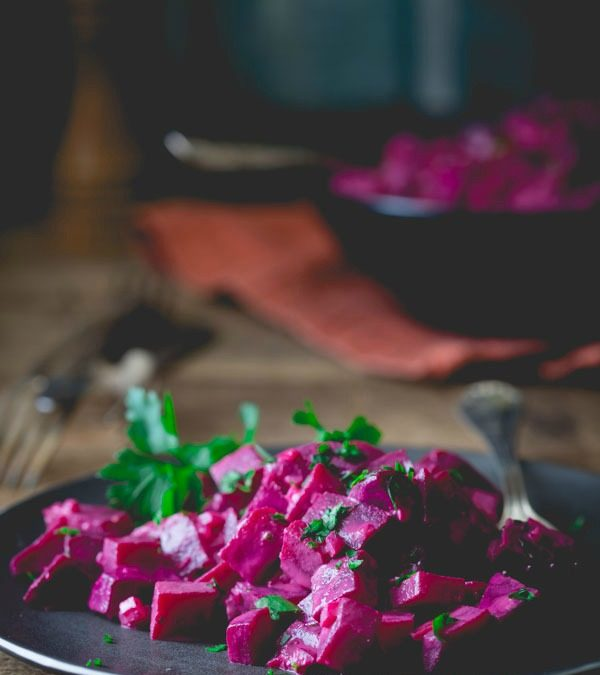 beets with tahini