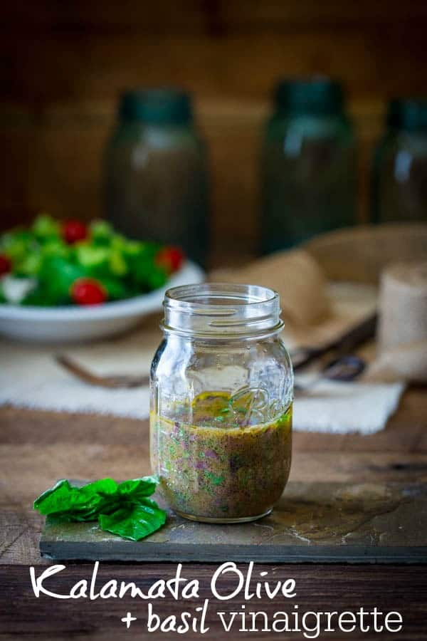 10 minute kalamata olive and basil vinaigrette | Naturally gluten-free healthyseasonalrecipes.com