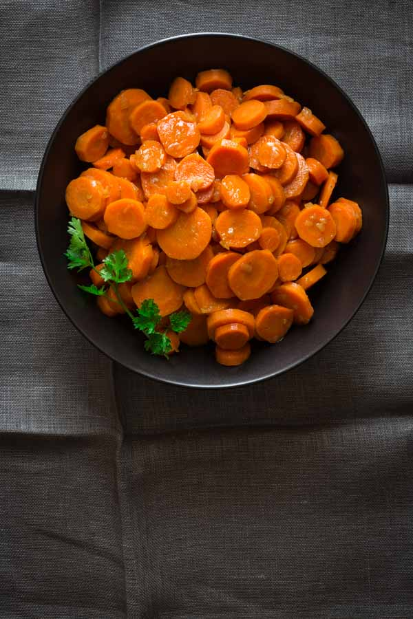 Maple Glazed Carrots by Katie Webster in Maple, 100 Sweet and Savory Recipes Featuring Pure Maple Syrup