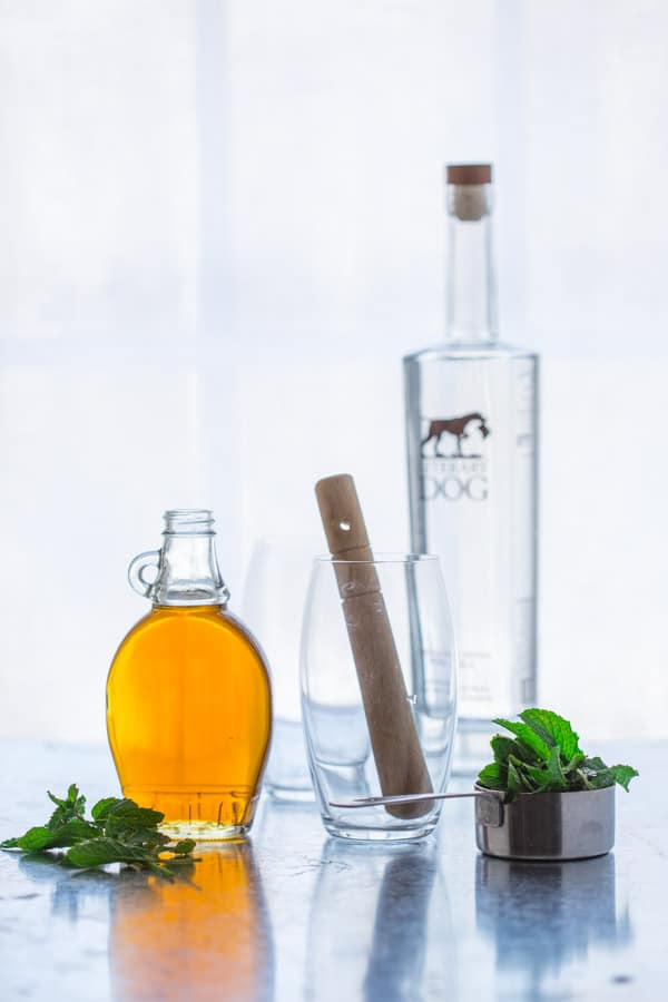 Maple Mint Vodka Spritzer with Maple Vodka from Vermont on Healthy Seasonal Recipes by Katie Webster