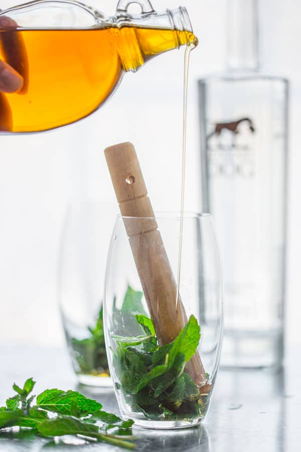 Naturally Sweet Maple Mint Spritzers with Vodka distilled from pure maple sap