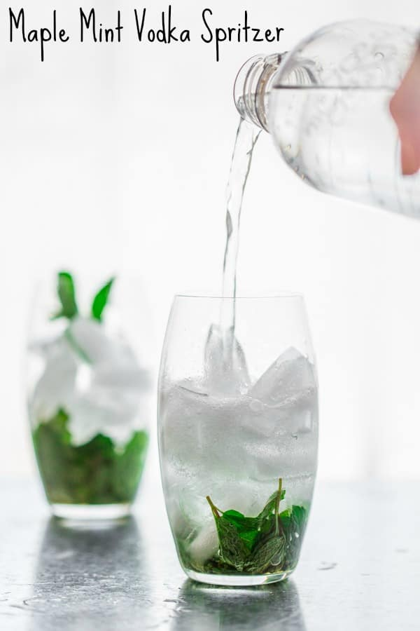 Maple Mint Vodka Spritzer | Healthy Seasonal Recipes #paleo