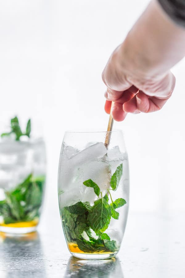 Maple Mint Vodka Spritzers on HealthySeasonalRecipes.com