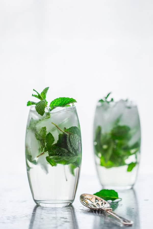 Maple Mint Vodka Spritzers on HealthySeasonalRecipes.com