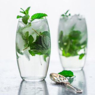 Maple Mint Vodka Spritzers