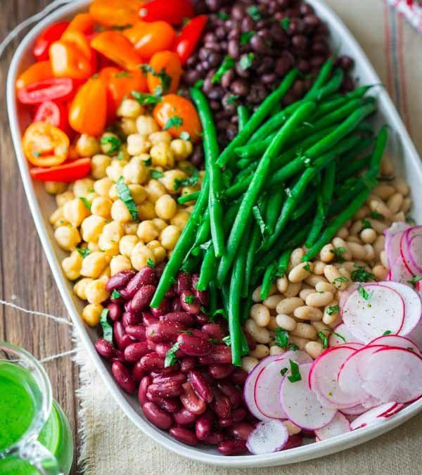 composed bean salad