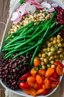 Composed Bean Salad | Healthy Seasonal Recipes #CookTheCover on @eatingwell