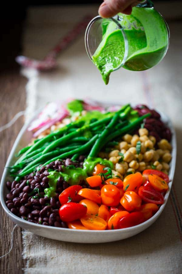 Composed Bean Salad on Healthy Seasonal Recipes