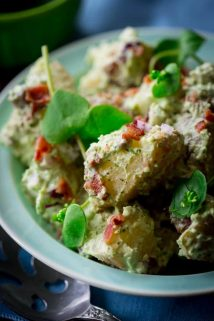 Lightened-Up Pesto Bacon Potato Salad | Healthy Seasonal Recipes