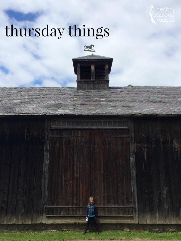 Thursday Things on healthy seasonal recipes